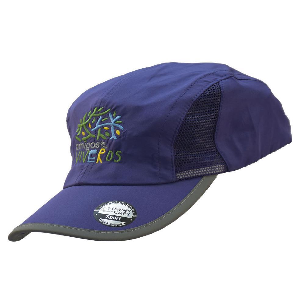 Gorra deportiva morada